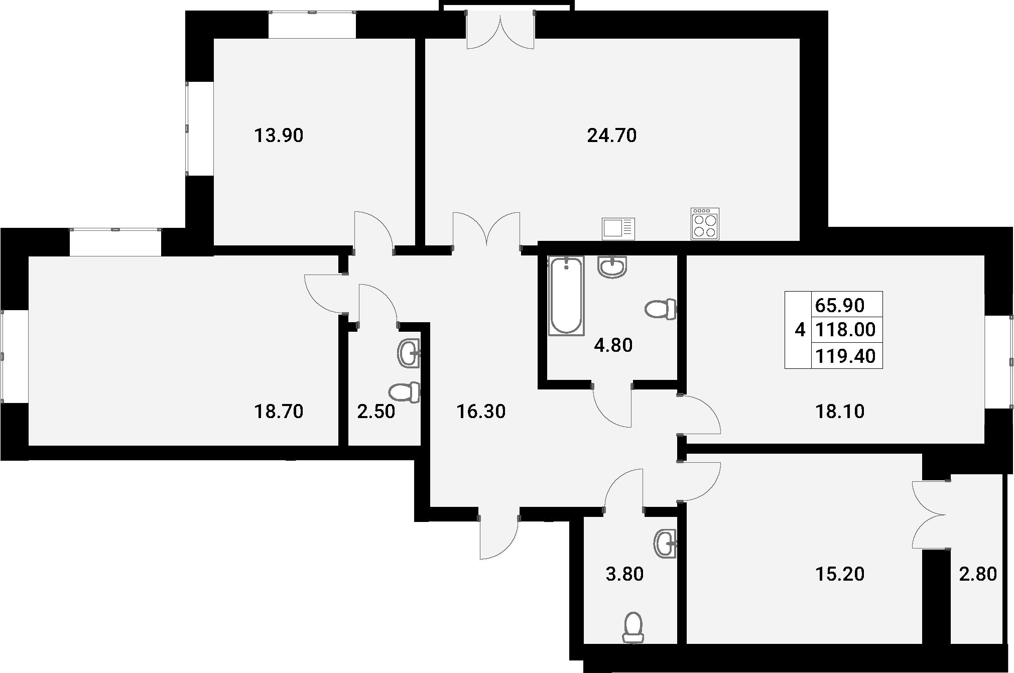 5Е-к.кв, 119.4 м²