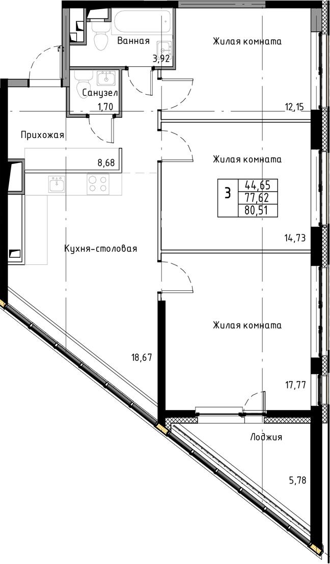 4Е-к.кв, 80.51 м²