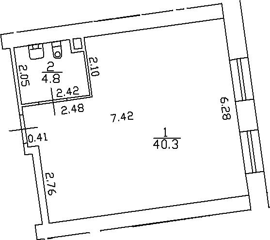 Своб. план., 45.1 м²