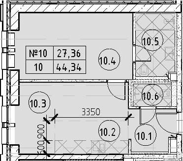 2Е-к.кв, 44.34 м²