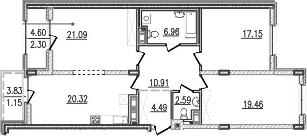 4-к.кв (евро), 111.4 м²