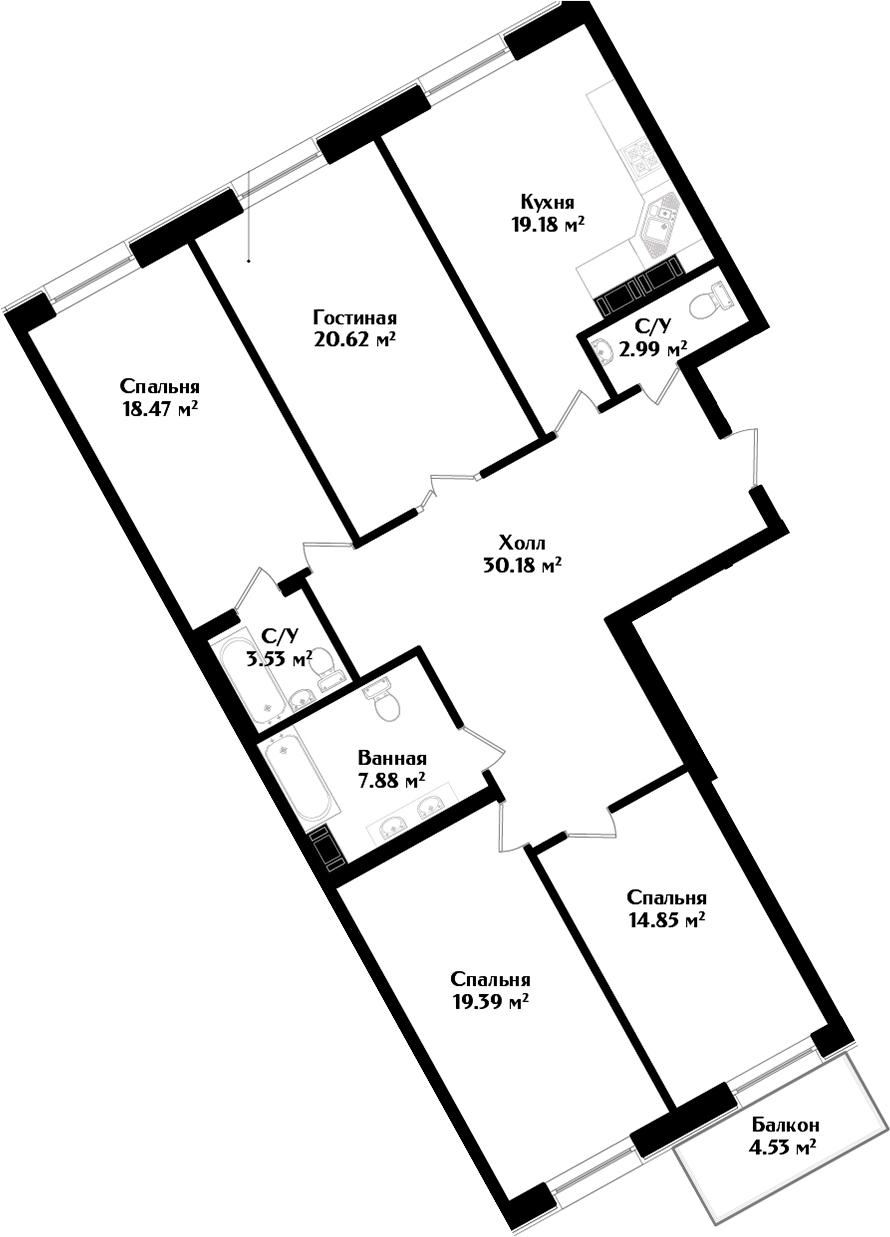 5Е-комнатная, 138.49 м²– 2