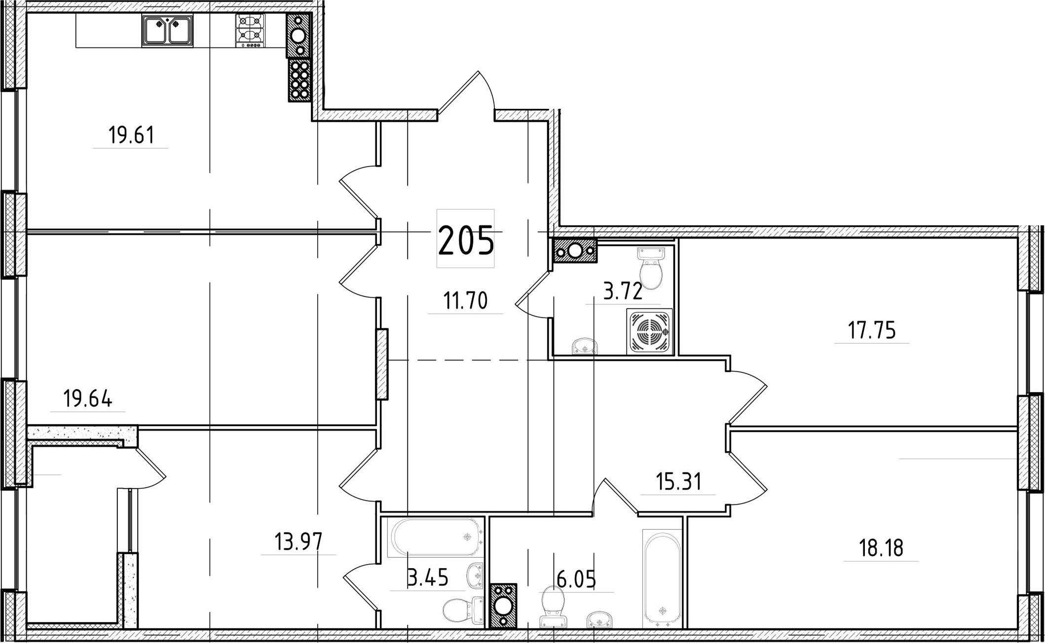 5Е-к.кв, 131.74 м²