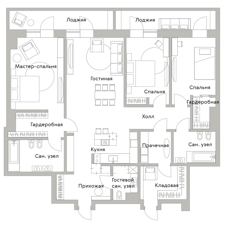 4Е-комнатная, 151.5 м²– 2