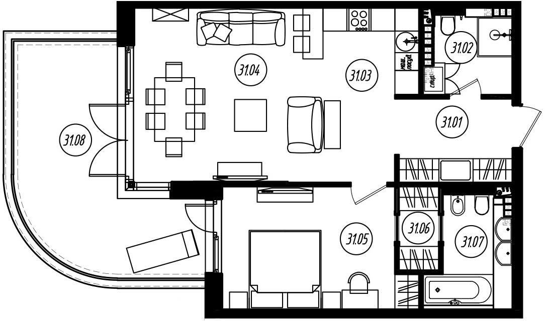 2Е-к.кв, 67.61 м²