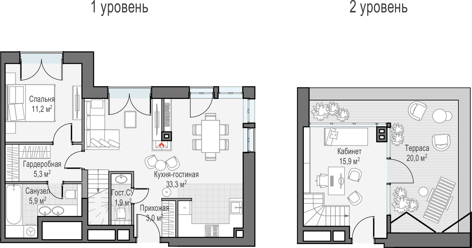 3Е-комнатная, 81.3 м²– 2