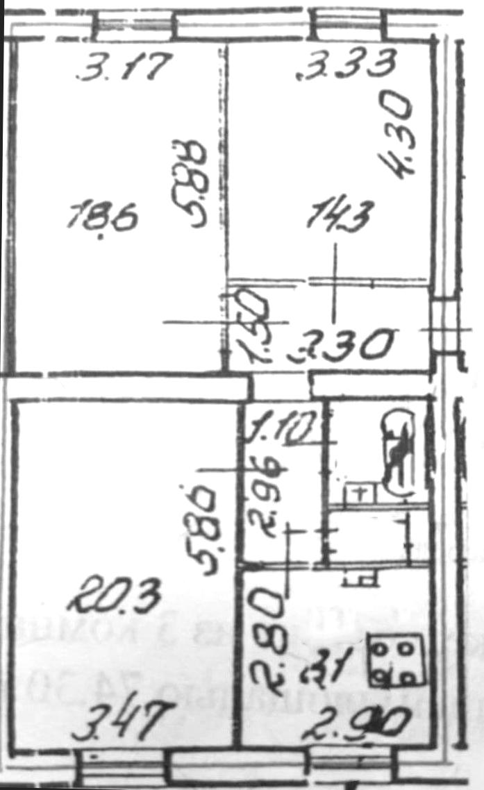 3-к.кв, 74.21 м²