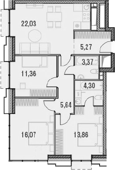 4Е-комнатная, 81.9 м²– 2