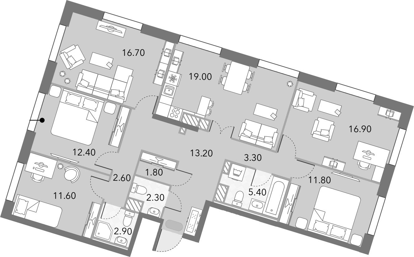 5-к.кв, 119.6 м²