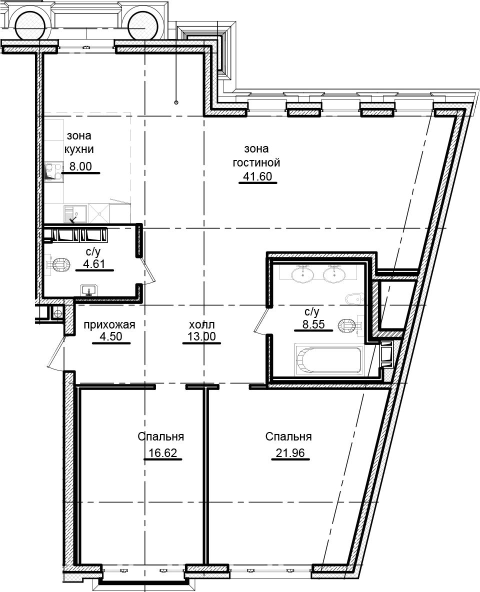 3-к.кв (евро), 118.84 м²
