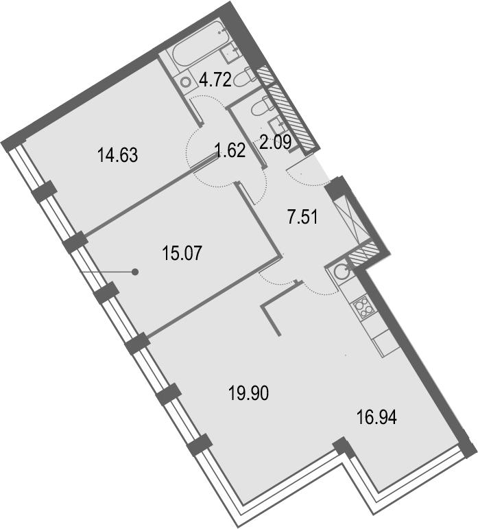 4Е-комнатная, 82.48 м²– 2