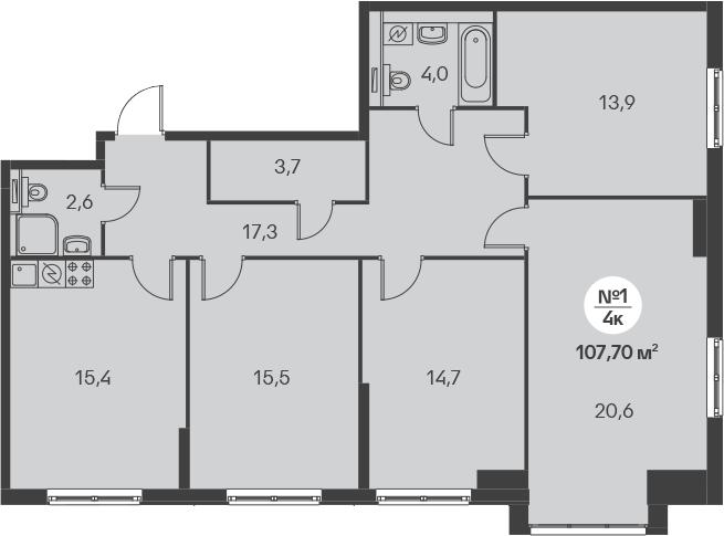 5-к.кв (евро), 107.7 м²