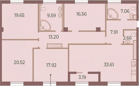 5Е-к.кв, 150.28 м²