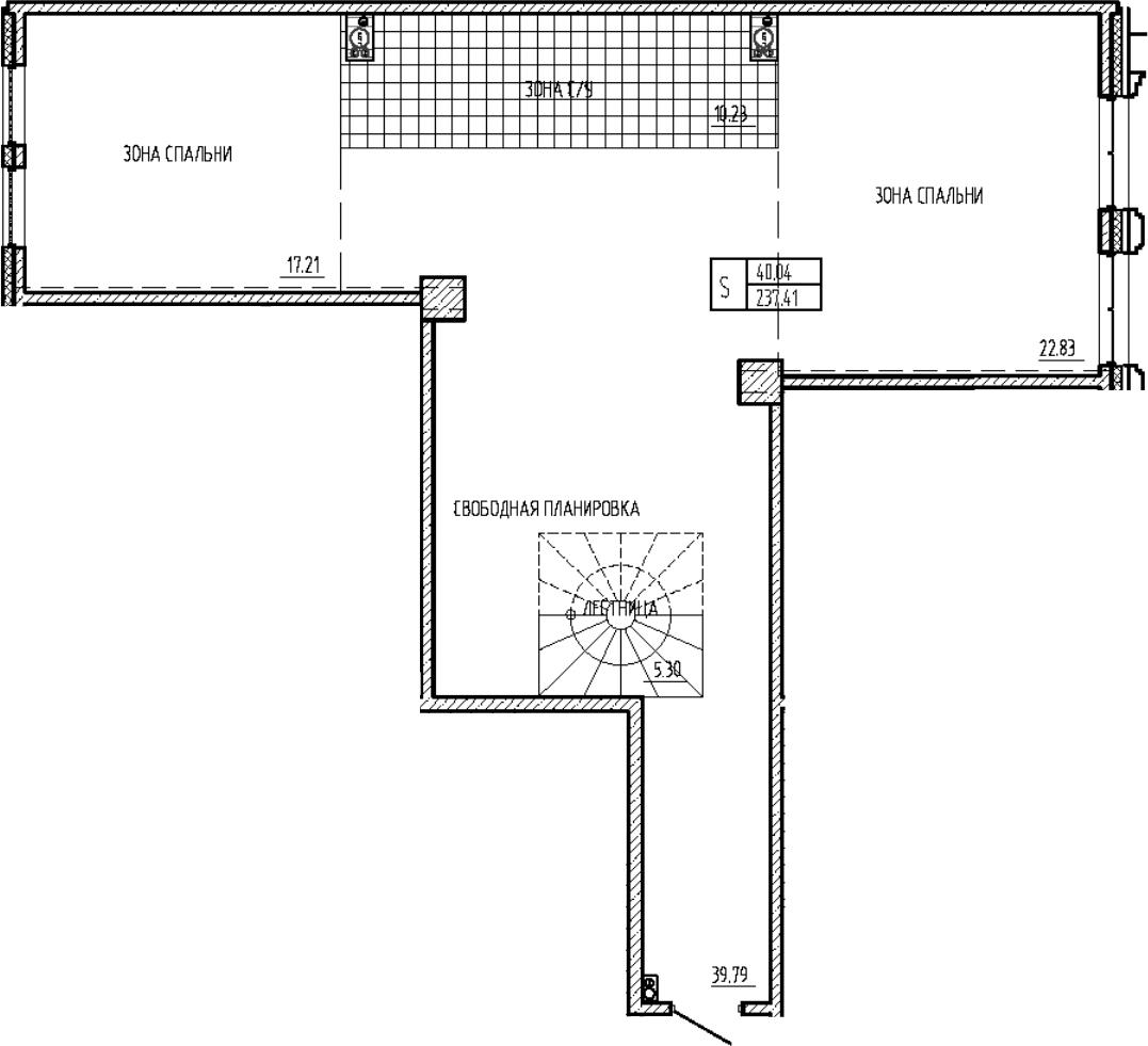 Свободная планировка, 246.35 м²– 2
