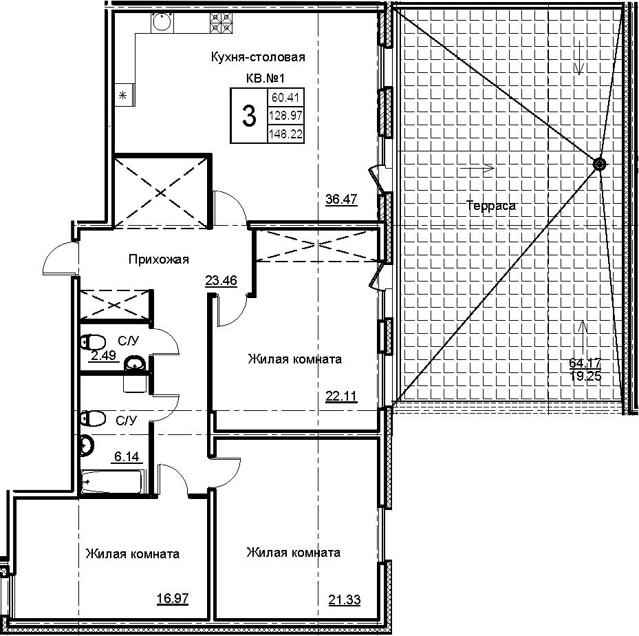 4Е-к.кв, 148.22 м²