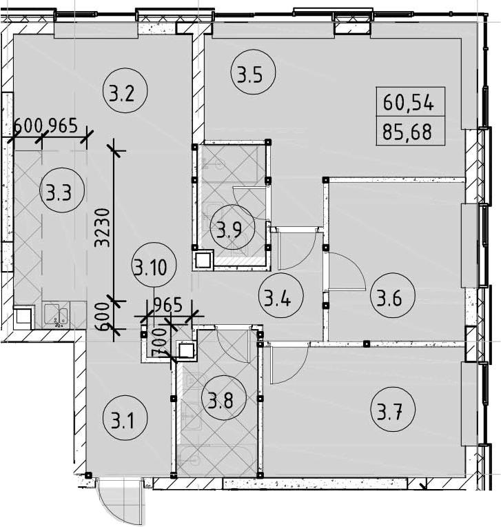 4Е-комнатная, 85.68 м²– 2