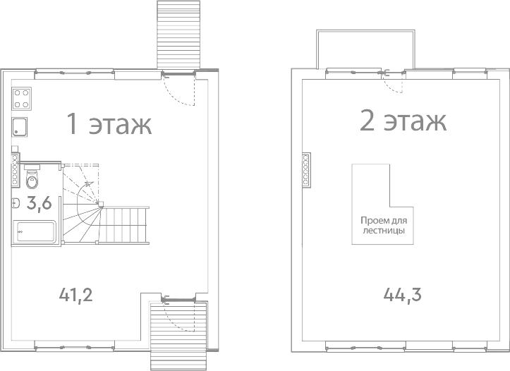 Таунхаус, 90.1 м²– 2