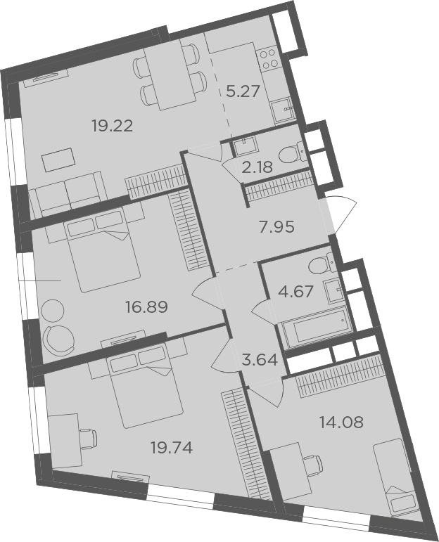 4Е-к.кв, 93.64 м²