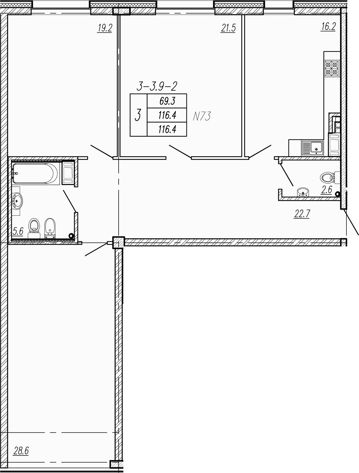 4Е-к.кв, 116.4 м²