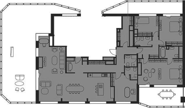 Свободная планировка, 244.3 м²– 2