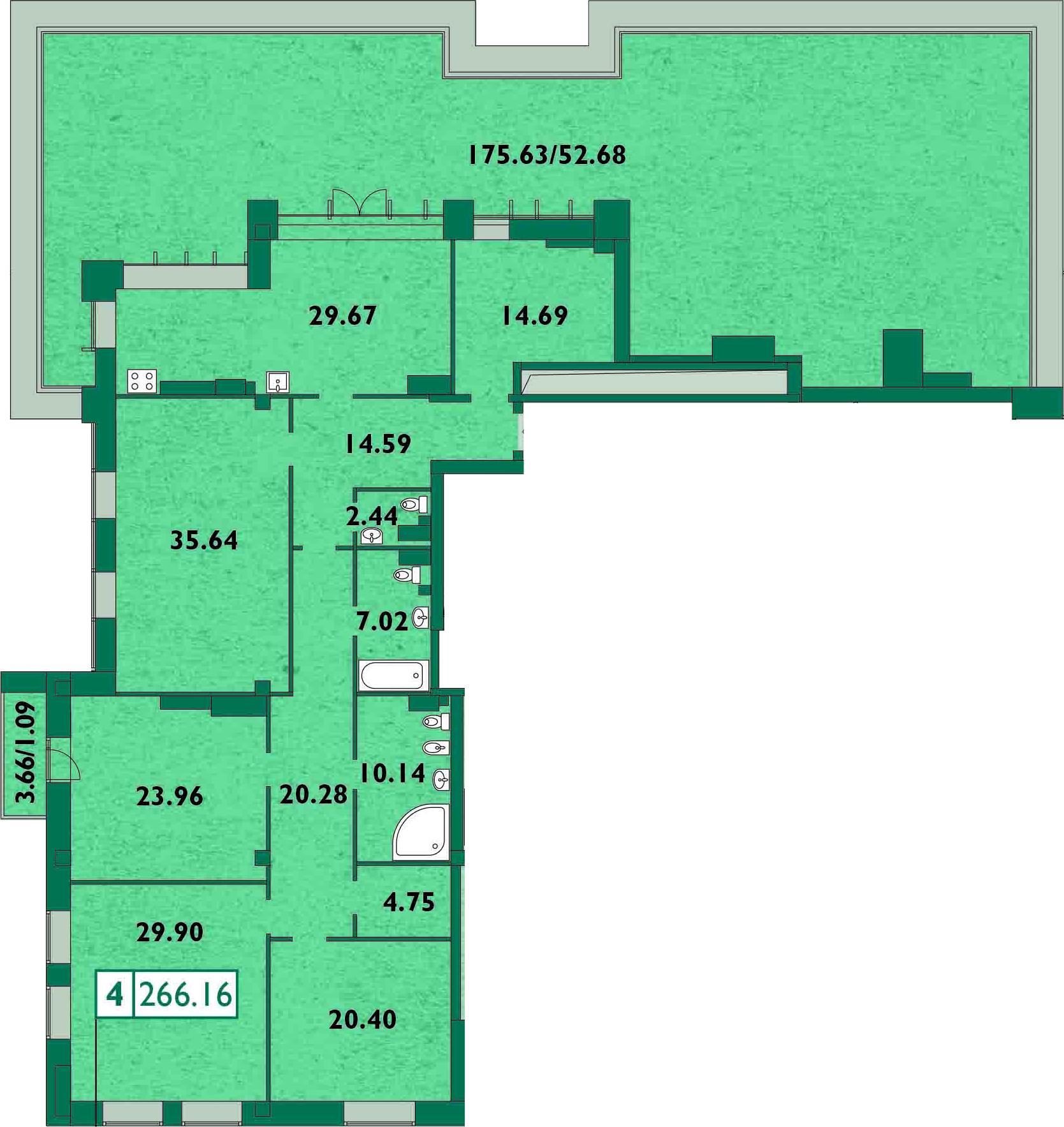 5Е-комнатная, 269.6 м²– 2
