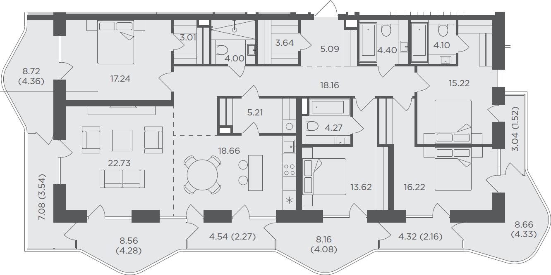 5-комнатная, 182.11 м²– 2