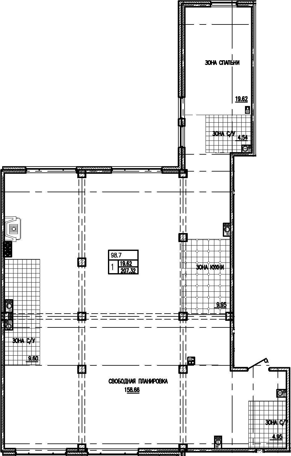 Своб. план., 207.32 м²
