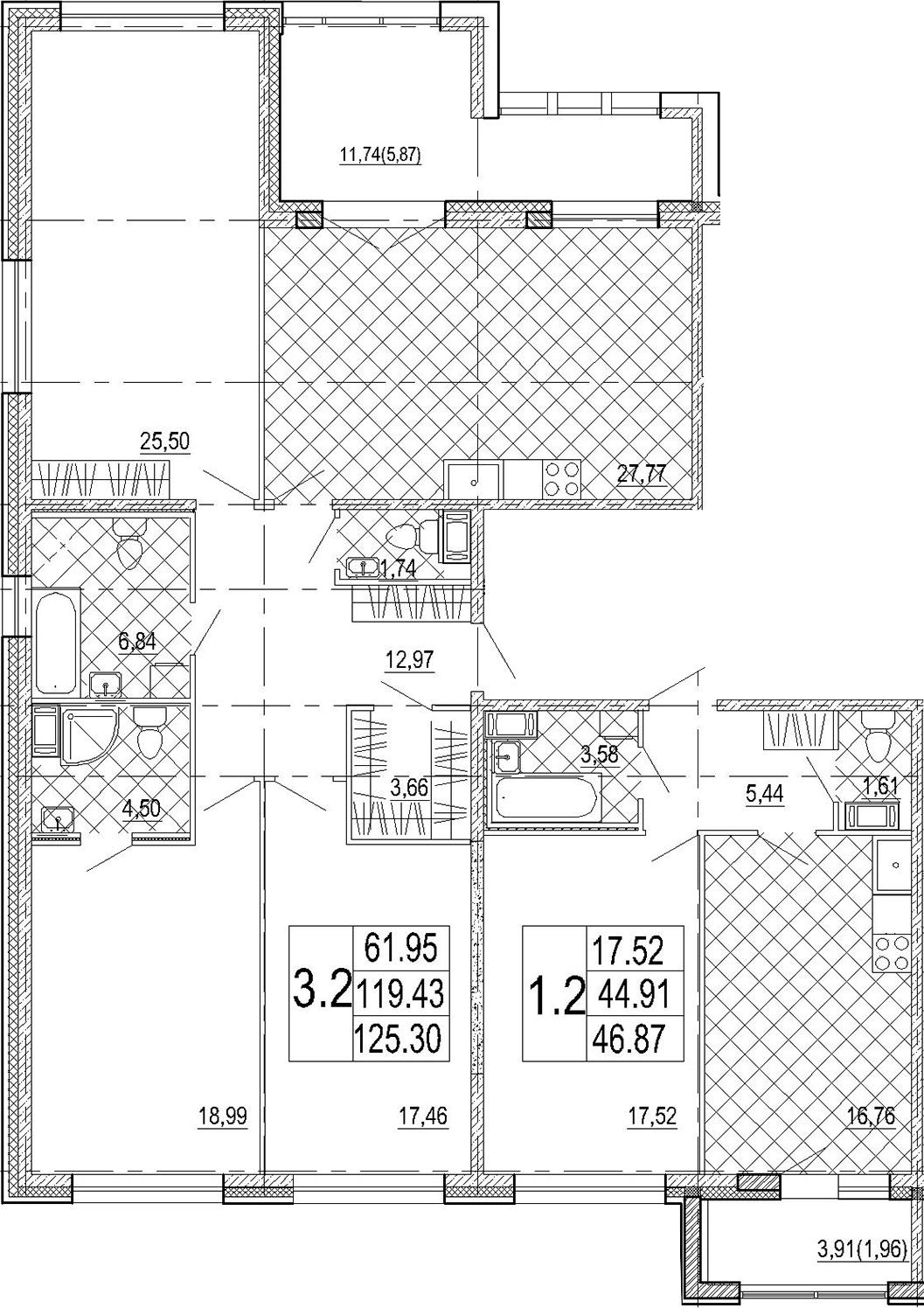 5Е-комнатная, 172.17 м²– 2