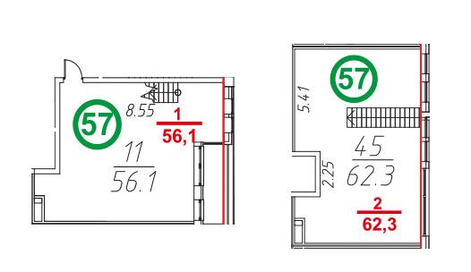 Свободная планировка, 119.7 м²– 2