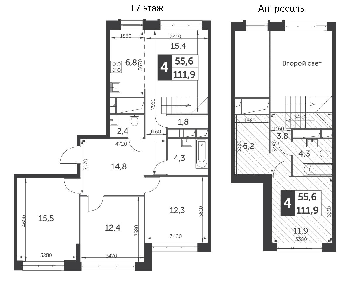 5Е-к.кв, 111.9 м²