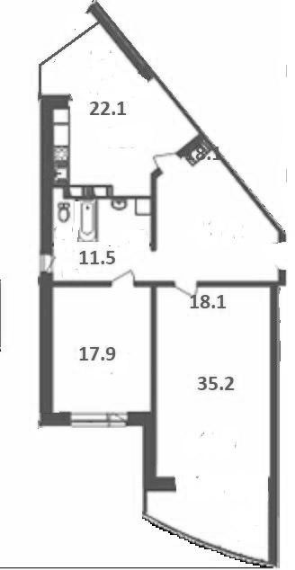 3-к.кв (евро), 104.8 м²