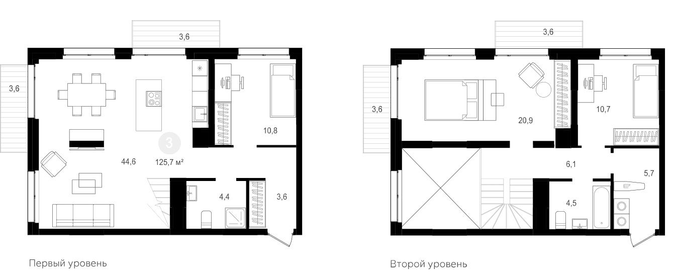 4Е-к.кв, 125.7 м²