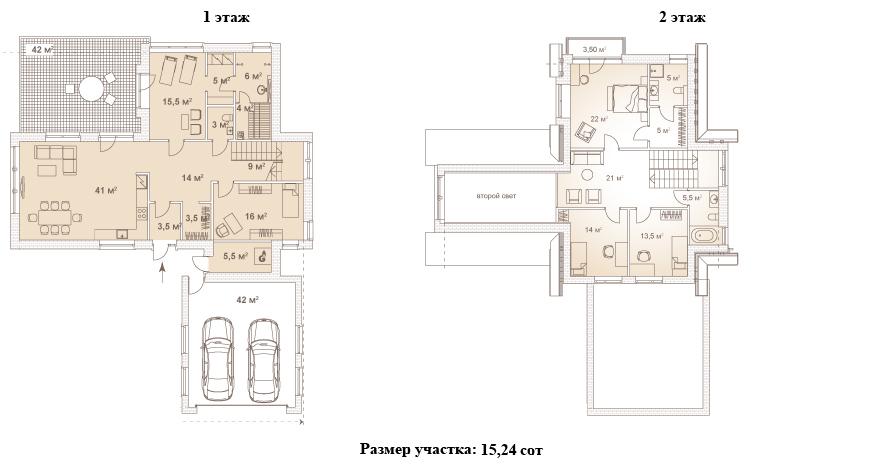 Коттеджи, 253.2 м²