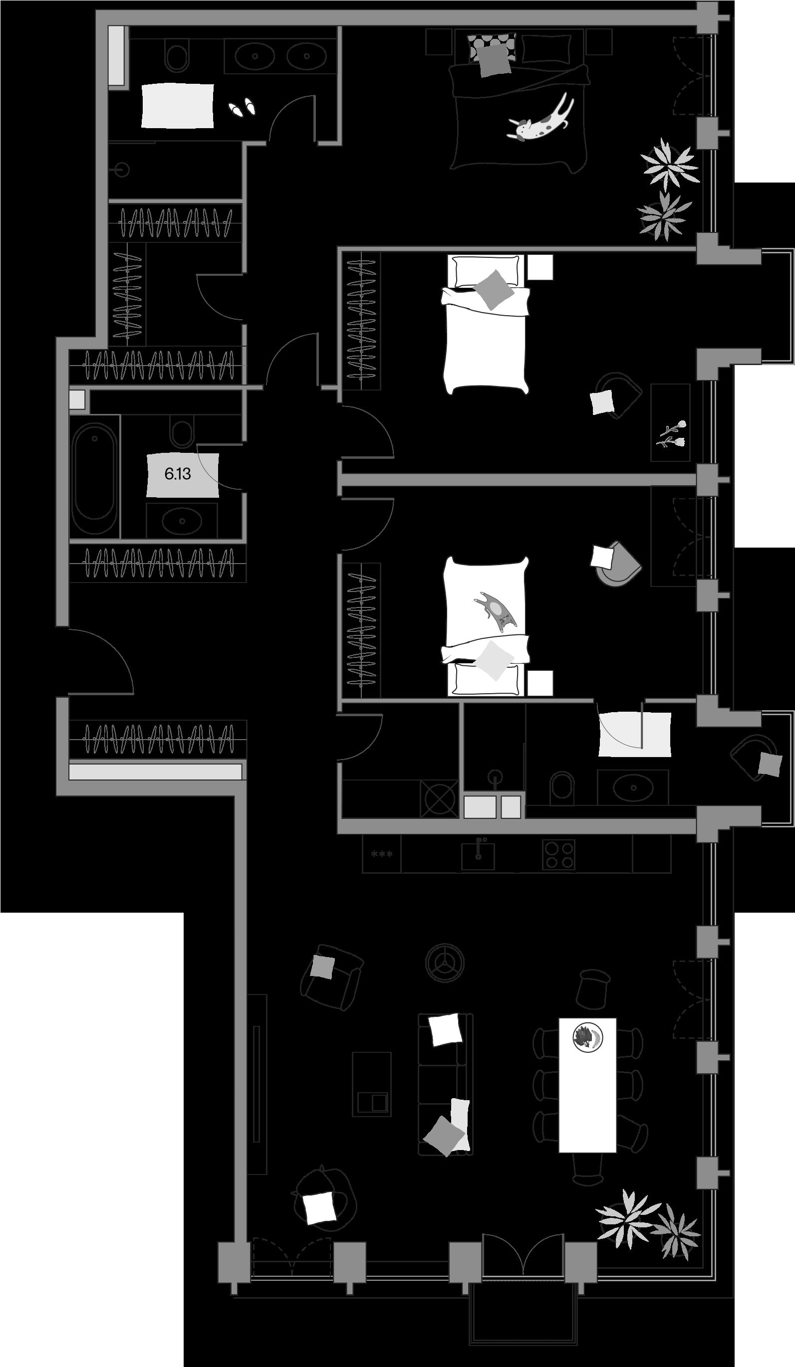 4-к.кв (евро), 159.37 м²