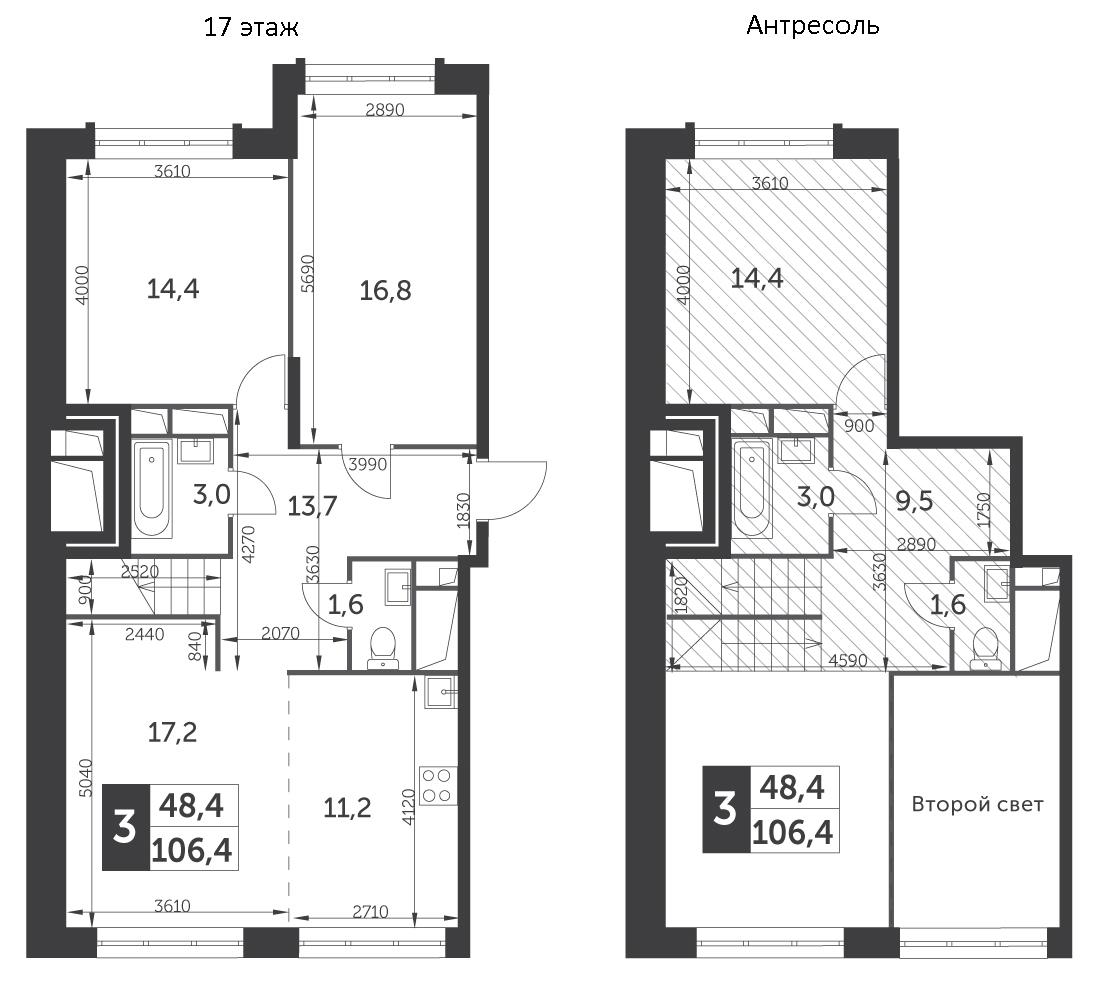 4Е-к.кв, 106.4 м²
