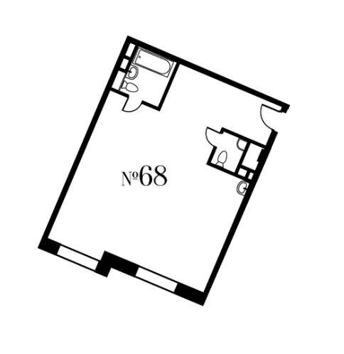 Свободная планировка, 71.7 м²– 2