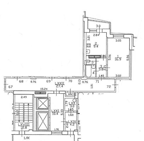 1-комнатная квартира, 33.7 м², 10 этаж – Планировка