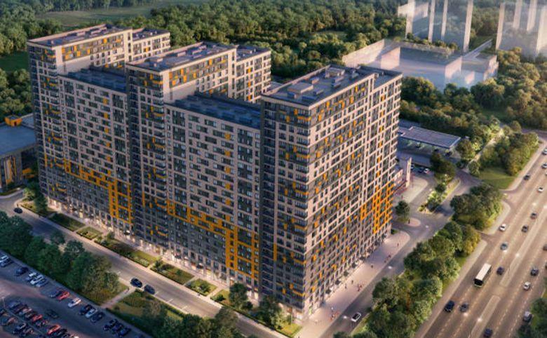 2Е-комнатная квартира, 40.57 м², 22 этаж – 10