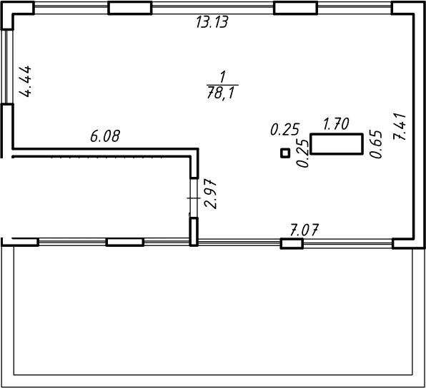 Свободная планировка, 78.1 м²– 2