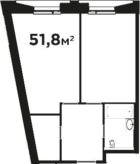 Своб. план., 51.8 м², от 4 этажа