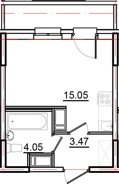 Студия, 23.95 м², 10 этаж