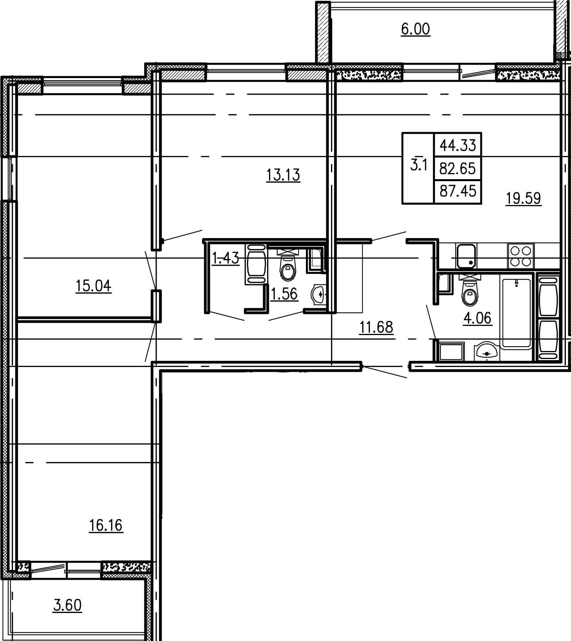 4Е-к.кв, 82.65 м²
