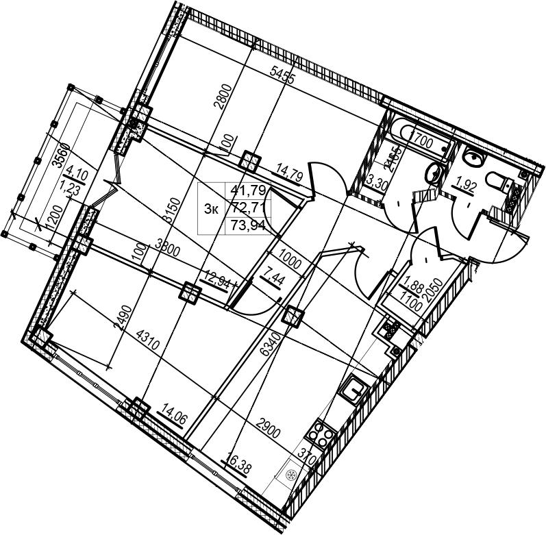 4-к.кв (евро), 76.81 м²