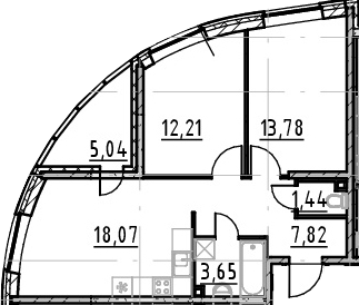 3Е-к.кв, 56.97 м²