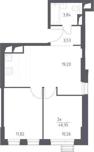 3Е-комнатная, 48.95 м²– 2