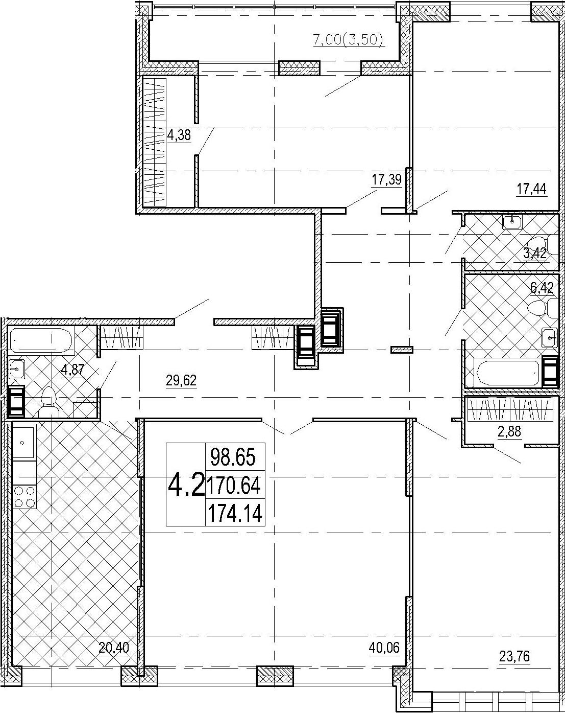 5Е-комнатная, 174.14 м²– 2