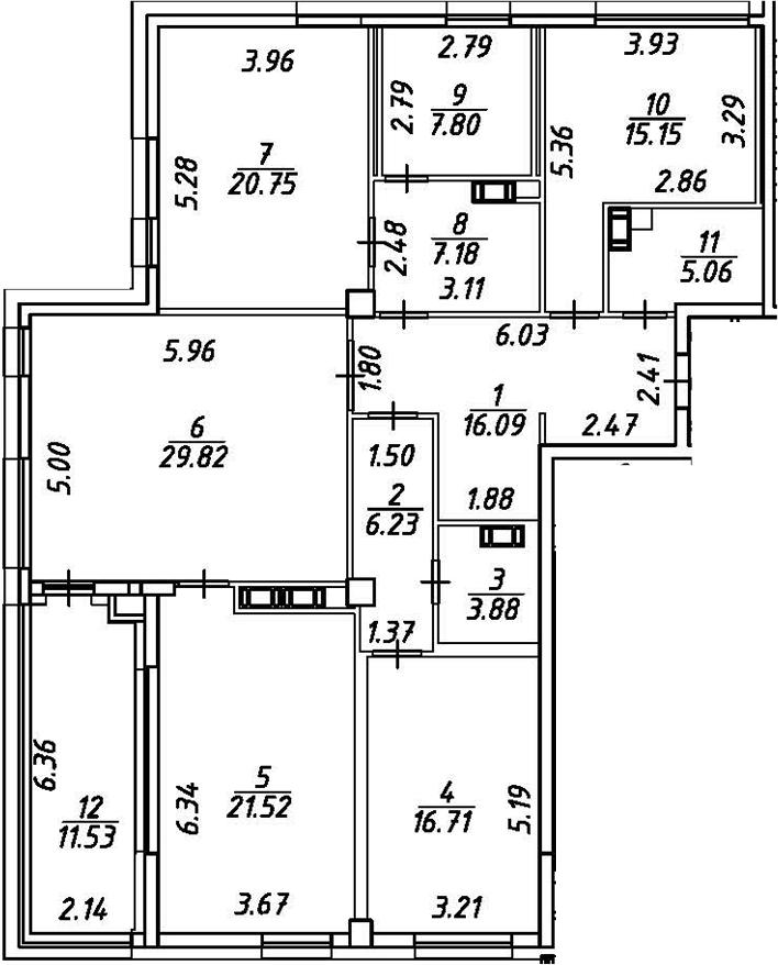 5Е-к.кв, 155.96 м²