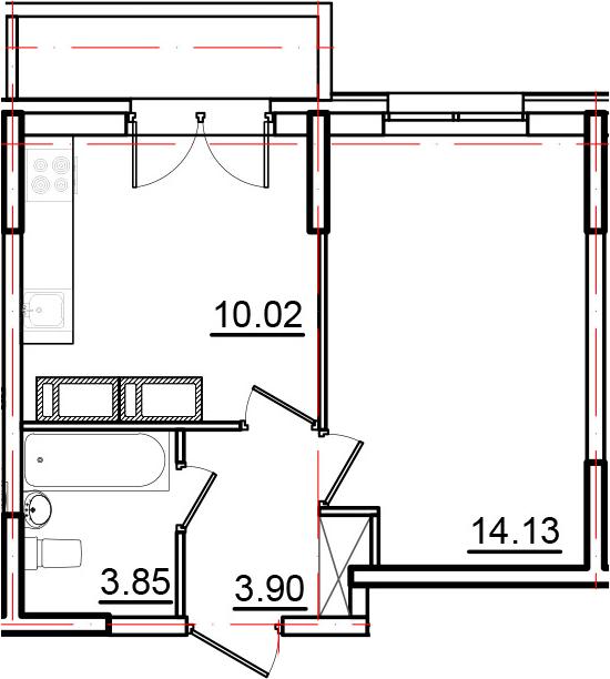 1-к.кв, 35.3 м²