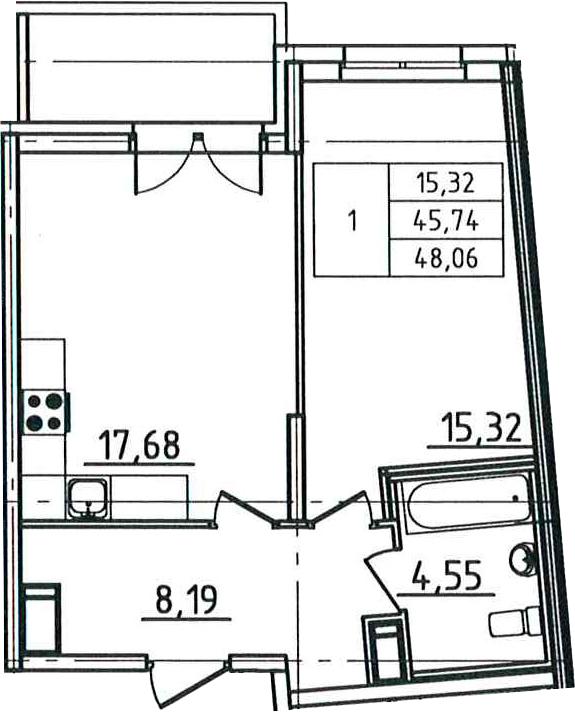 2Е-к.кв, 48.06 м²