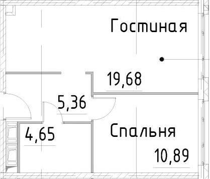 2-к.кв (евро), 40.57 м²